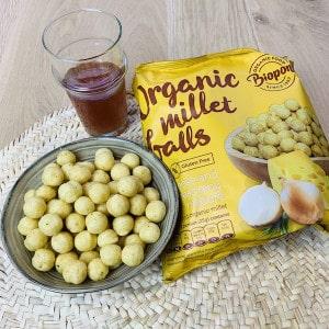 Billes millet soufflées oignon fromage Biopont produit