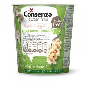 Plat instantané macaroni sans gluten aux champignons