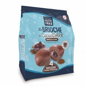 Brioche fourrée au chocolat noir sans gluten