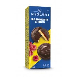 Biscuit à la framboise recouverts de chocolat sans gluten