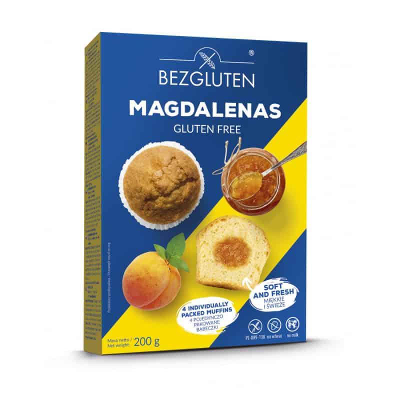 Madeleine fourrée abricot sans gluten bezgluten