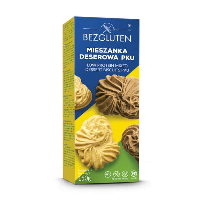 Biscuits secs sans gluten faibles en protéines