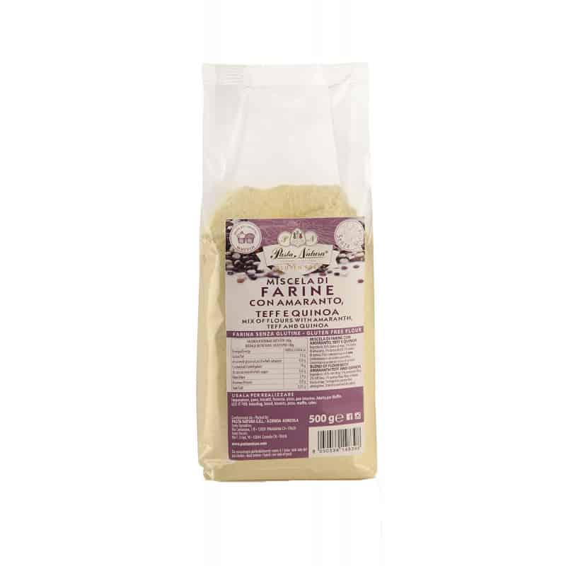Farine sans gluten en 500 g d'amarante, teff et quinoa