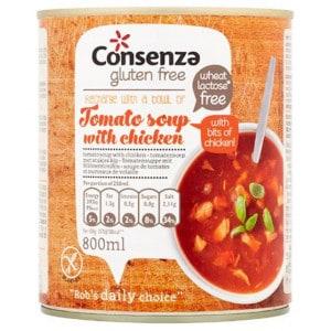 Soupe à la tomate sans gluten