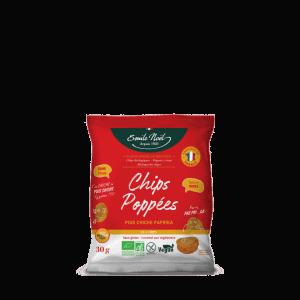 Chips Poppées à base de Pois chiche au paprika Bio sans gluten