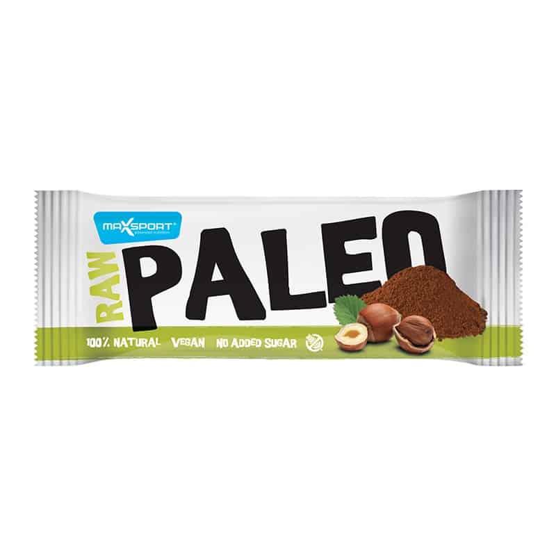 Barre protéinée cacao noisettes Raw Paleo Max Sport