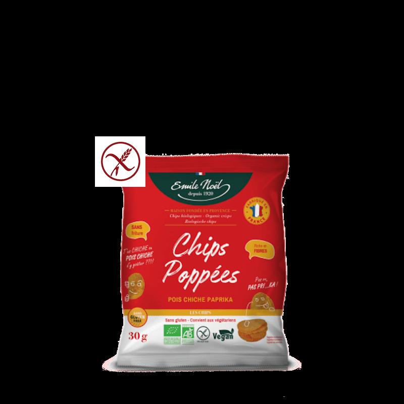 Chips Poppées à base de Pois chiche au paprika Bio sans gluten - LPPR