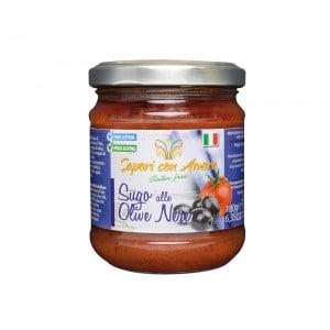 sauce tomate aux olives noires sans gluten - Pasta di Venezia