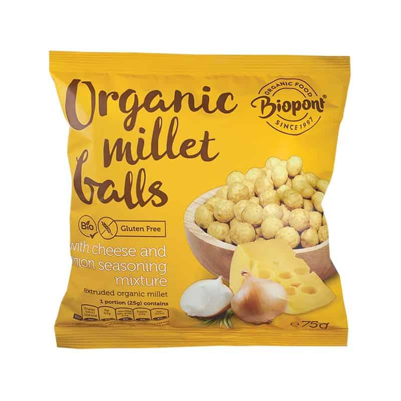 Billes millet soufflées oignon fromage Biopont