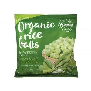 Billes de riz soufflé épinards Biopont