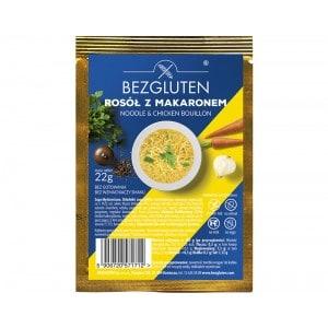 Potage de nouilles au poulet instantané Bezgluten