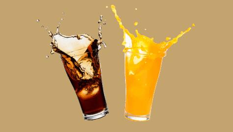 Des boissons sans gluten, du jus de fruits à la bière